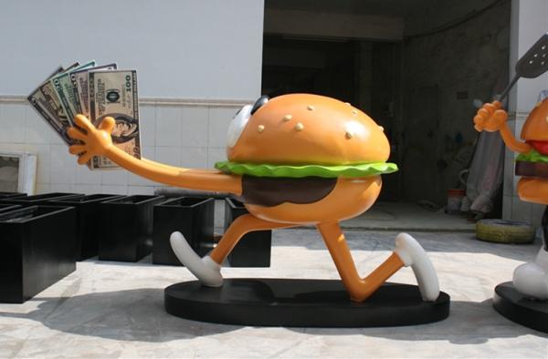 卡通雕塑   汉堡包玻璃钢雕塑