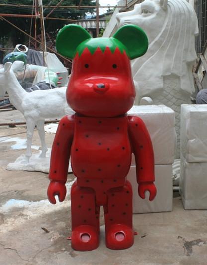 卡通雕塑   机器熊玻璃钢雕塑