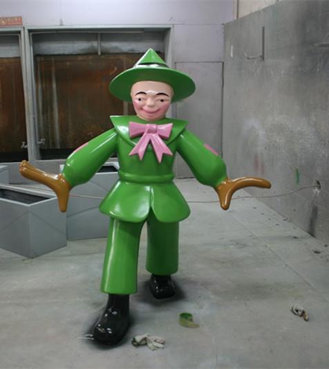 卡通雕塑   稻草人玻璃钢雕塑