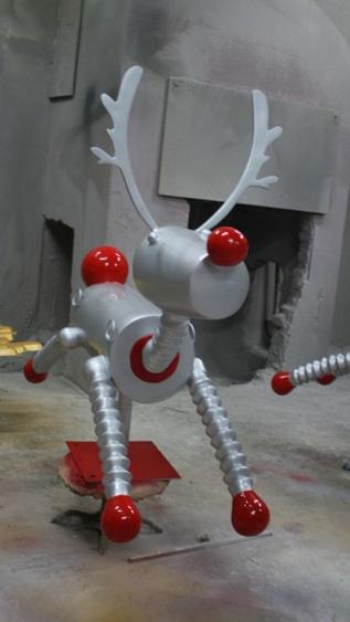 卡通雕塑   万达鹿玻璃钢雕塑