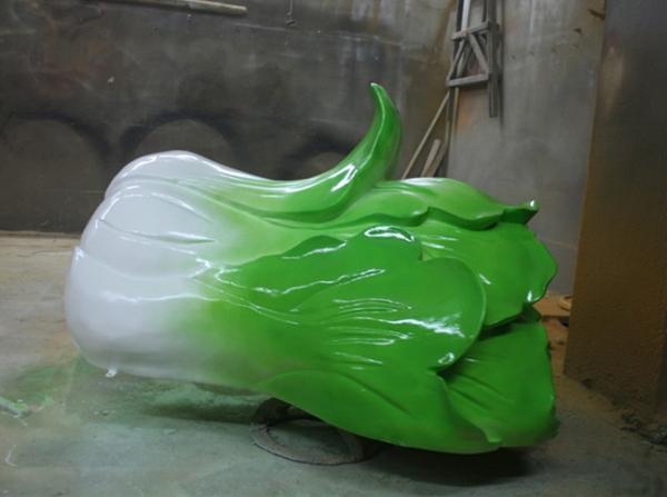 景观园林雕塑   大白菜玻璃钢雕塑