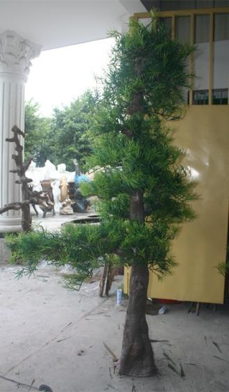 园林景观雕塑  罗汉松玻璃钢雕塑