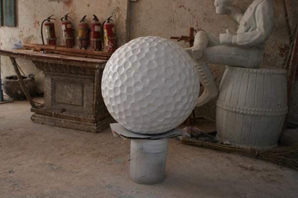 园林景观雕塑  高尔夫球玻璃钢雕塑