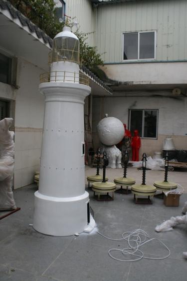 园林景观雕塑  灯塔玻璃钢雕塑