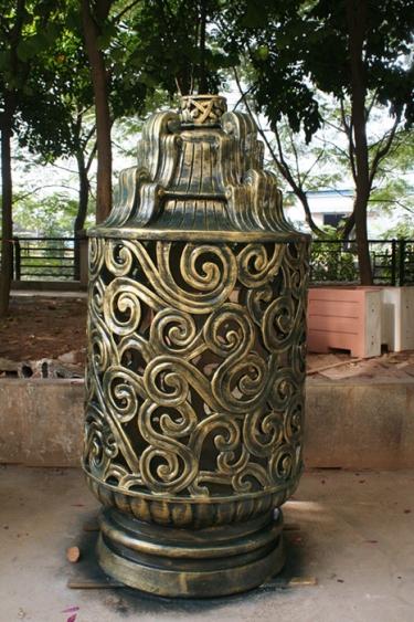 园林景观雕塑  香炉玻璃钢雕塑