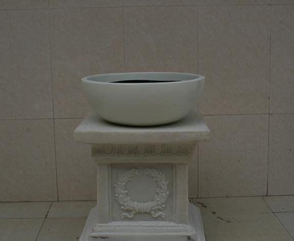 欧式花盆   白色玻璃钢花盆