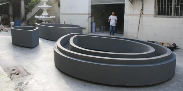 大花盆   玻璃钢大型商场花池 装饰 花池