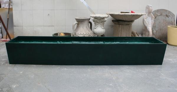 花槽     玻璃钢墨绿花槽