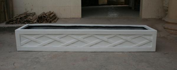 花槽    白色 玻璃钢花槽