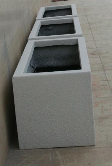 暗白色 玻璃钢组合花槽