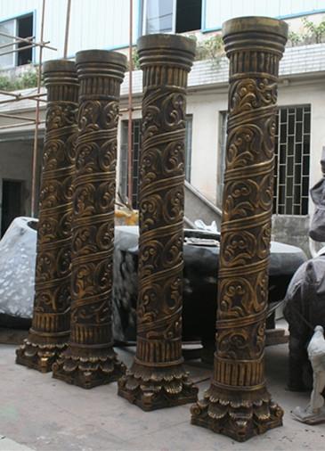 罗马柱玻璃钢雕塑