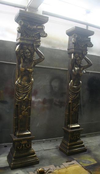 园林景观雕塑  罗马柱玻璃钢雕塑