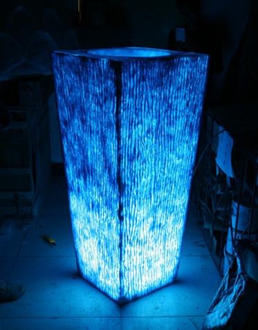 玻璃钢花盆        玻璃钢透光花盆