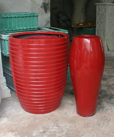 花盆        红色玻璃钢花盆