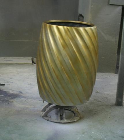 花盆        金色玻璃钢花盆