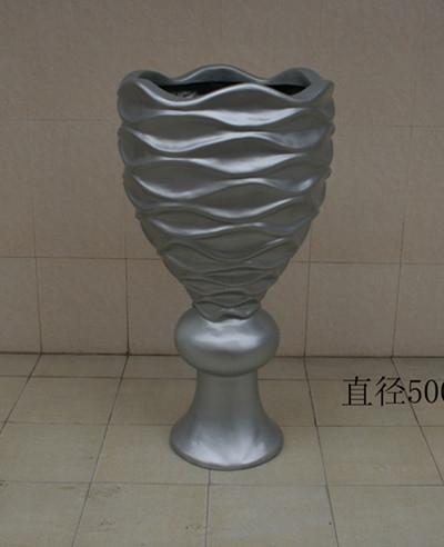 花盆        灰色玻璃钢花盆
