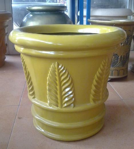花盆        黄色玻璃钢花盆