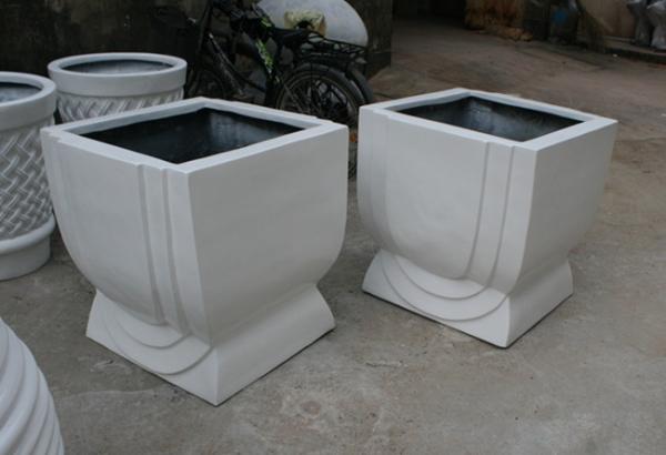 花盆        白色玻璃钢花盆