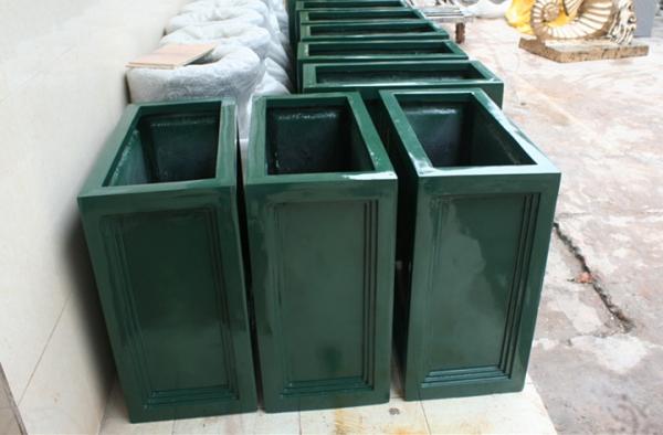 花槽     绿色玻璃钢花槽