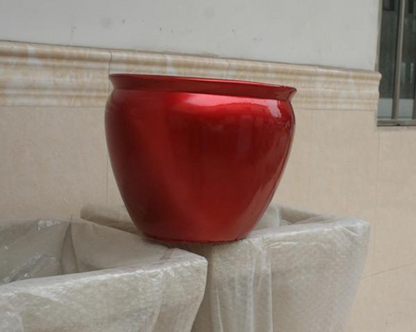 花盆        暗红色玻璃钢花盆