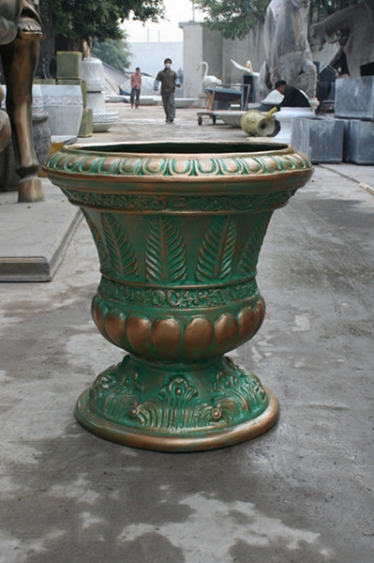 花盆        铜色玻璃钢花托盆