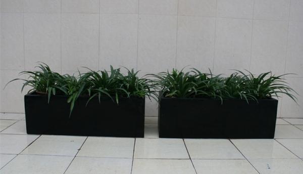 商场 黑色玻璃钢组合花槽