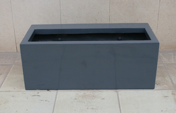 商场灰色玻璃钢花槽