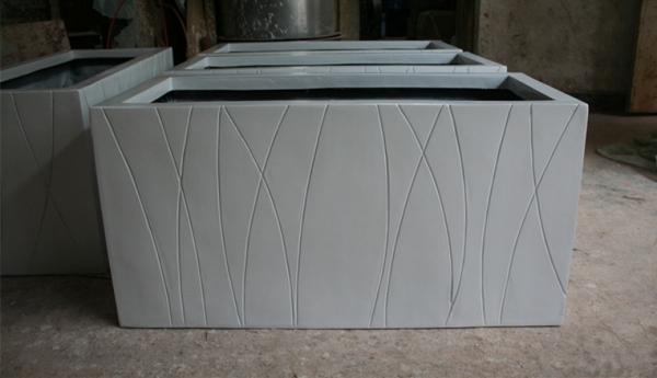 玻璃钢表面条纹花槽