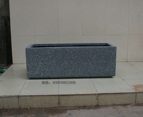 灰色 石漆玻璃钢花槽