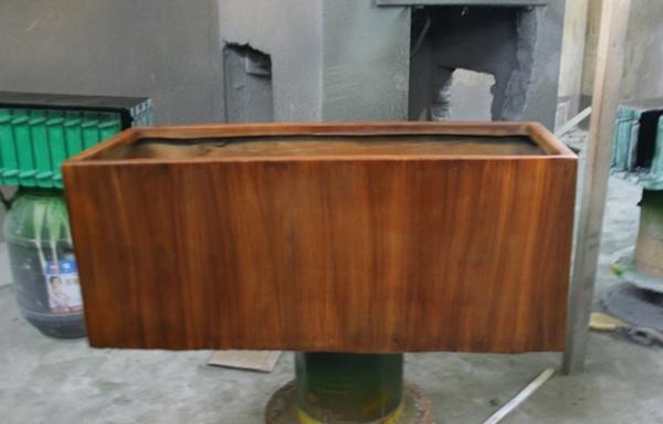 仿木质玻璃钢花槽