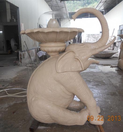 喷泉雕塑      大象砂岩雕塑