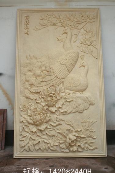 浮雕        锦绣鹤鸣玻璃钢雕塑
