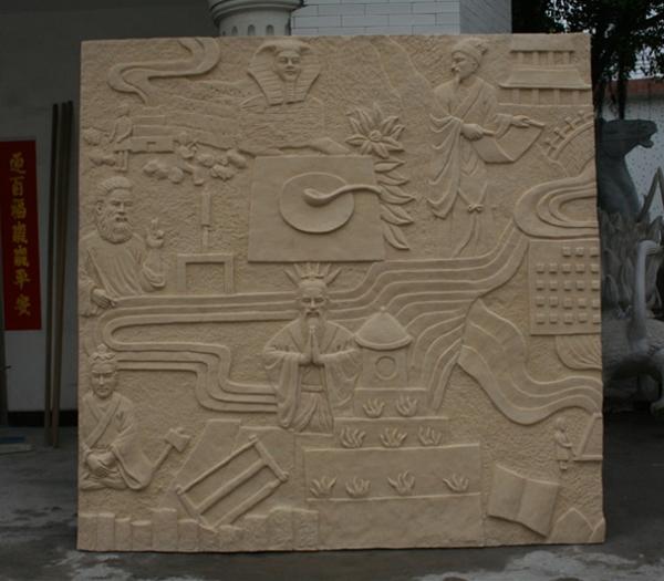 浮雕       四大古文明玻璃钢雕塑