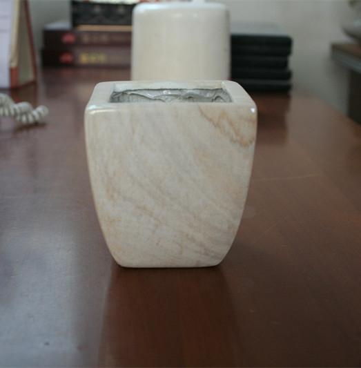 乳白色水印玻璃钢花盆