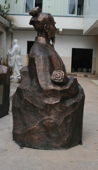 玻璃钢雕塑    学校仿古人物雕塑