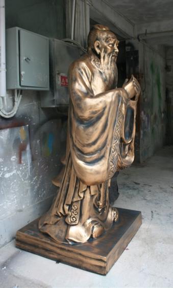 玻璃钢雕塑       学校孔子雕塑