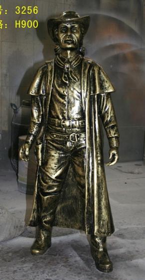 玻璃钢雕塑        步行街带帽人物雕塑