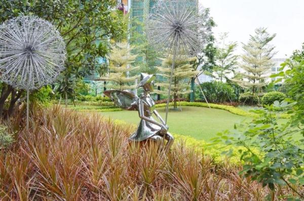 深圳不锈钢雕塑   抽象天鹅动物雕塑
