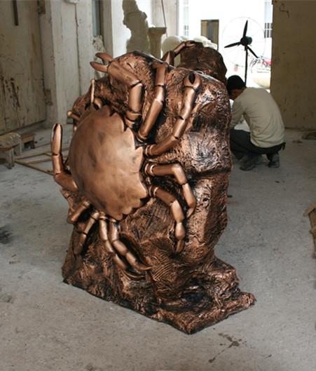玻璃钢十二星座    巨蟹座雕塑