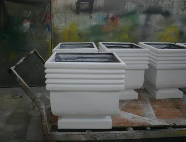 白色 玻璃钢花盆