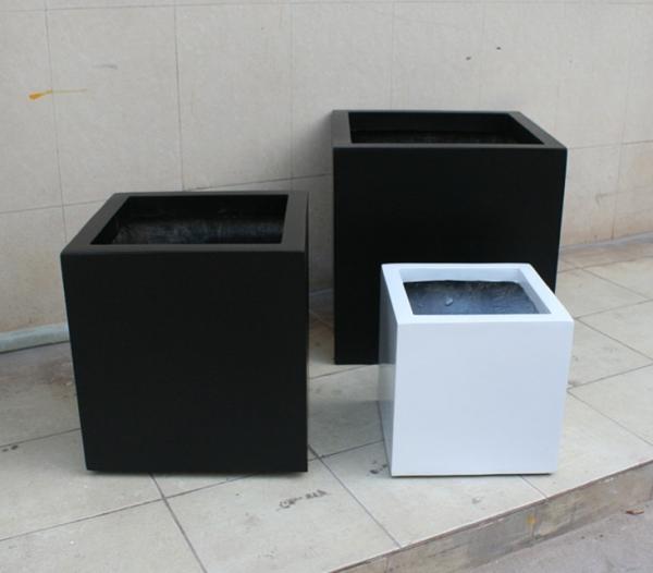 黑白色玻璃钢组合花槽