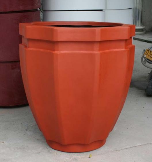 淡红色不规则玻璃钢花盆