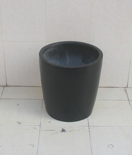 黑色小型玻璃钢花盆