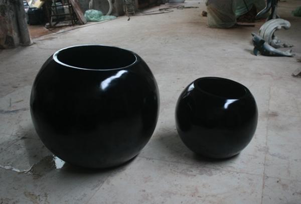黑色 玻璃钢组合花钵