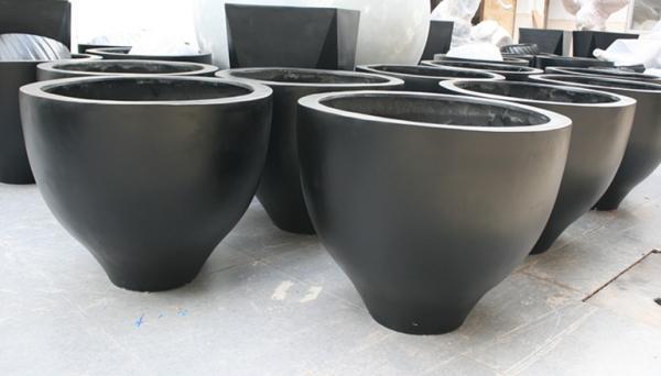 暗黑色玻璃钢组合花盆