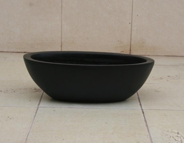 黑色椭圆形玻璃钢花盆