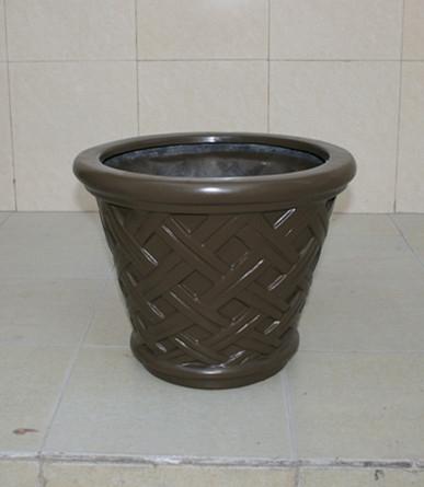 褐色玻璃钢花盆