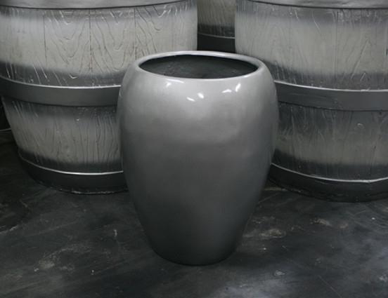 铅色玻璃钢花盆