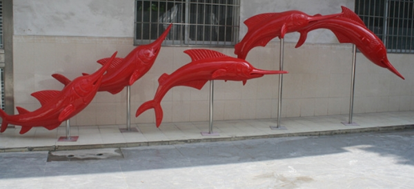 玻璃钢剑鱼雕塑