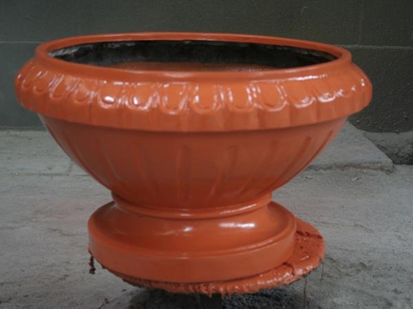 玻璃钢红花盆